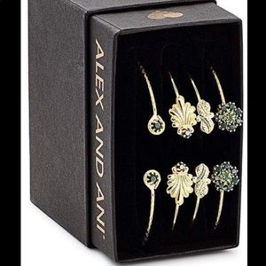 Alex and Ani Legacy Bracelet Set of 4 Pine Green